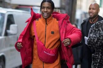 asap rocky fanny pack montreal balenciaga fashion new york fashion week