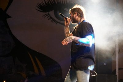 post malone perform white iverson mural fest