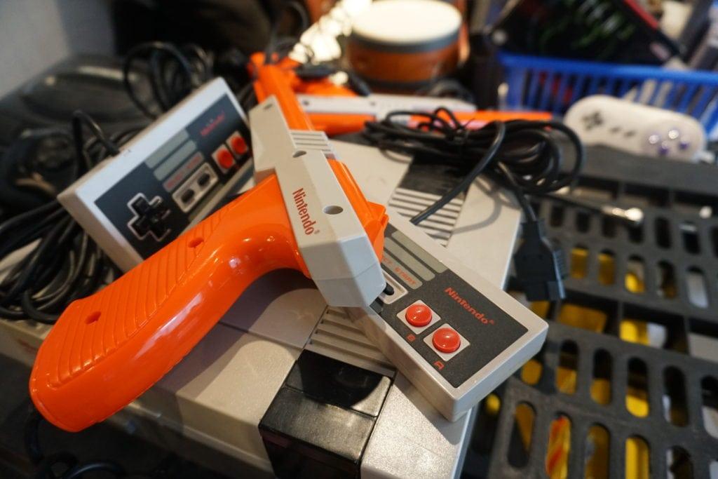 retro video games, high score con, video games, nintendo, duck shot