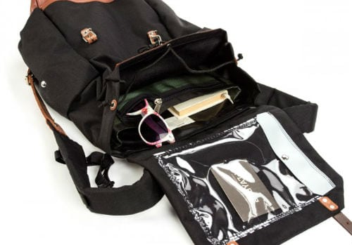 backpack pockets canadian brand montreal fashion