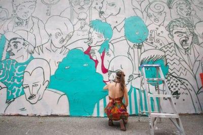 monosourcil mural festival mural artists paint visual artist