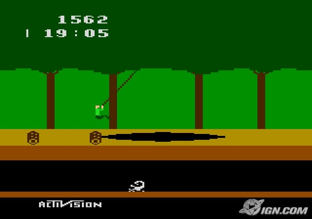 PITFALL HARRY ATARI VIDEO GAMES RETRO GAMES MONTREAL