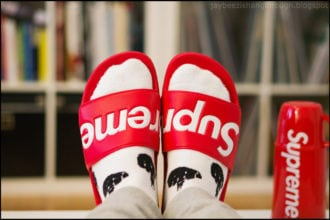 supreme slides fashion