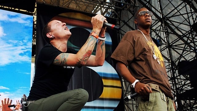 jay z, numb/encore/ chester bennington, linkin park