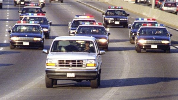 oj simpson police chase, los angeles times, book review, the book club