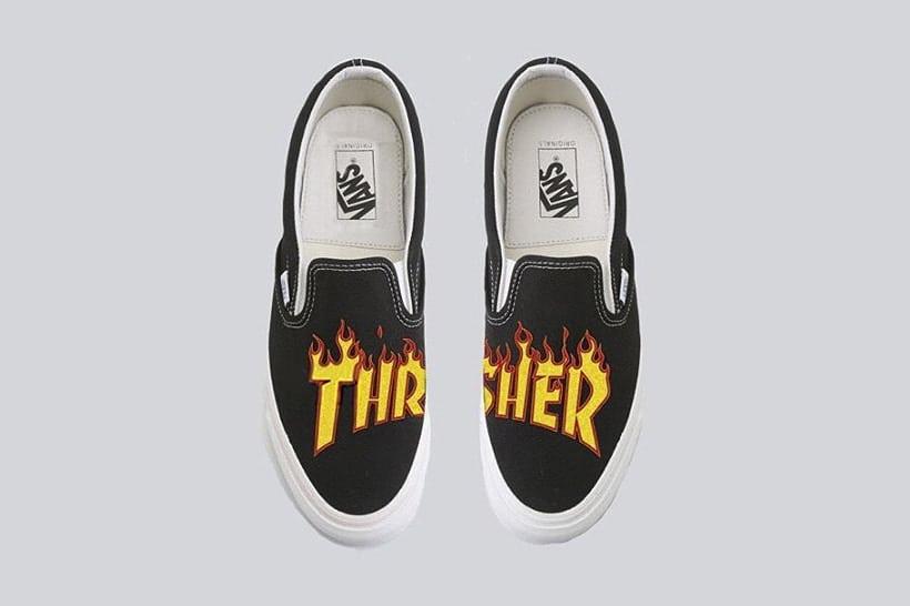 vans trasher slip on, urban sneakers, vans, trasher magazine