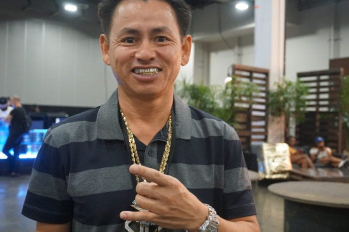 johnny bling, famous jeweller, jewellery, rap chains, las vegas trade show, capsule trade show, liberty fairs,