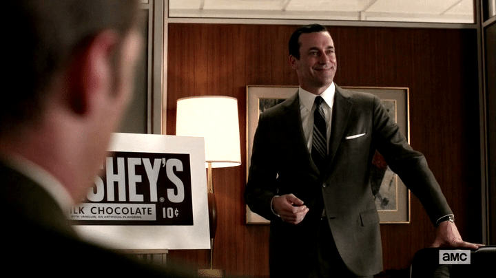 donald draper, mad men, presenation, business, hershey