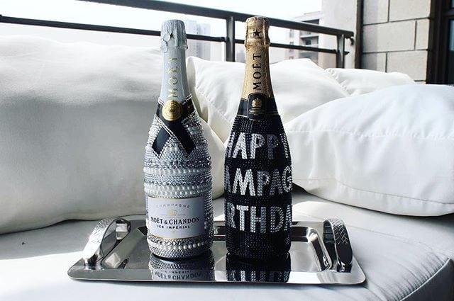 art on a bottle, bottle art, atelier champagne, cuztomize chamapgne bottle,