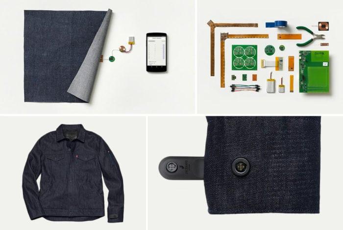 levi's commuter, google jacquard, smart fabrics, smartphones,