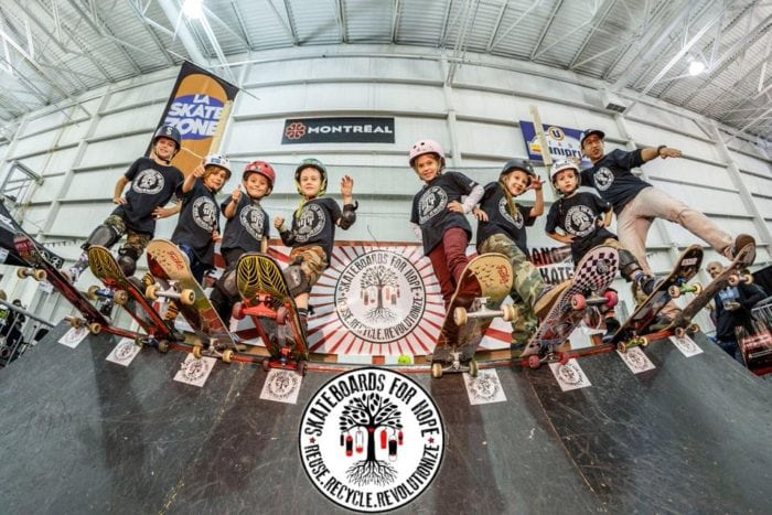 montreal, skate deck, betty esperanza, skateboards for hope, charity, montreal charity