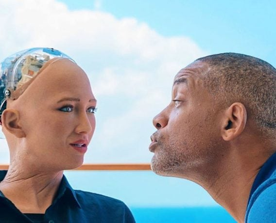 sophia the robot, Will Smith dates online