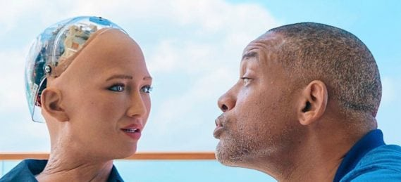 sophia the robot, Will Smith dates online