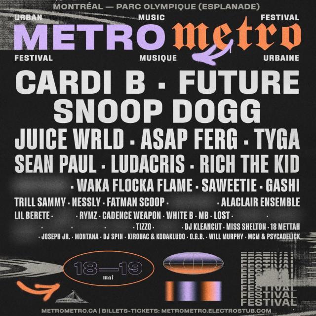 olivier primeau, metro metro festival, hip hop festival, cardi b , future, snoop dogg, juice wrld, montreal hip hop, tizzo