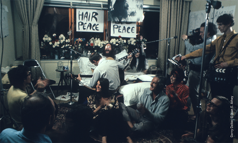john lennon, bed-in for peace, hair peace, bed peace, bed-in for peace montreal, le reine elizabeth, 50th anniversary of the bed-in for peace