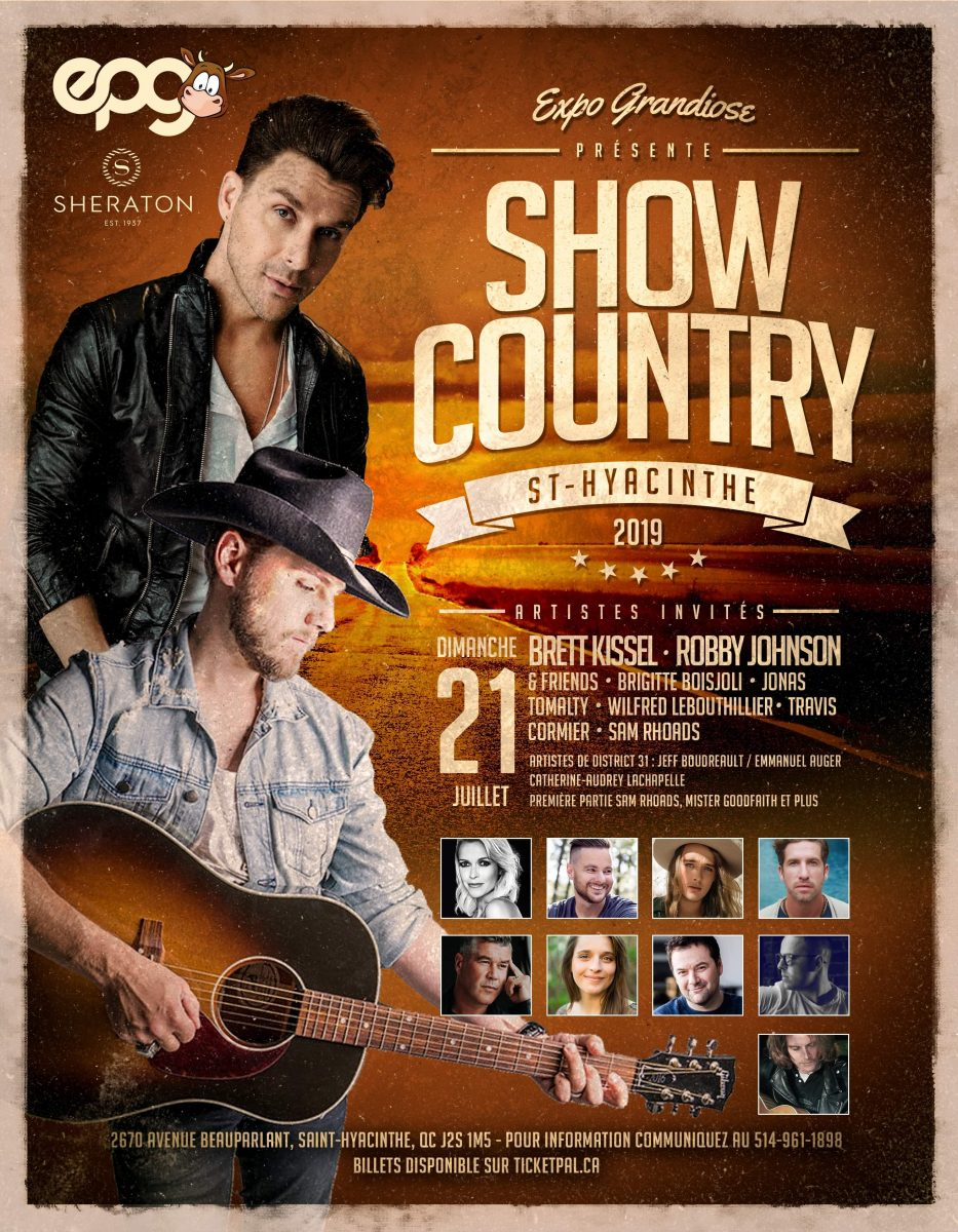 ste hyacinthe, brett kissel, country music canada